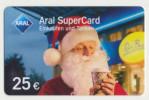 Aral SuperCard - 25 € - Motiv : Weihnachtsmann  - Geschenkkarte/Giftcard  -   Gebraucht / Leer  !!!!! ( 476 ) - Gift Cards
