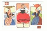 Anne-Odile HUET-HUMEAU: Femmes Basques: Kaskarot ,danseuse,montagnarde  ,signé - Illustrateurs & Photographes