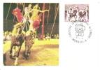 Monaco  -  Festival Du Cirque  -  1er Jour  Carte Maximum   -  First Day Card - Circo