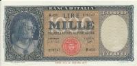 ITALIA - LIRE 1000 - 25 SETTEMBRE 1961 - CONTRASSEGNO MEDUSA - - 1000 Lire
