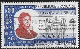 N°  1734    FRANCE  -  OBLITERE  -  JEAN FRANCOIS CHAMPOLLION -  1972 - France