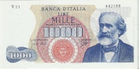 ITALIA -LIRE 1000 -GIUSEPPE VERDI - 14/1/1964 - QUASI FIOR DI STAMPA - - 1000 Lire