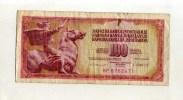 - YOUGOSLAVIE  . BILLET 100 D. 1981 - Yougoslavie