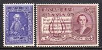 RUANDA URUNDI - 1956 MOZART ANNIVERSARY SET (2V) SG 198-199 FINE MNH ** - 1948-61: Mint/hinged