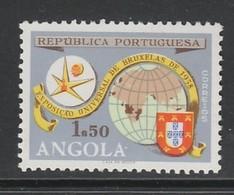 TIMBRE NEUF D'ANGOLA - EXPOSITION UNIVERSELLE DE BRUXELLES 1958 N° Y&T 406 - 1958 – Bruxelles (Belgique)