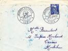 Paris 1954 - BT Journée Du Timbre Sur Gandon - Marcophilie (Lettres)