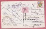 24 BERGERAC --Multivues - Carte Pour La Belgique--Etiquette Partie Sans Laisser D'adresse Et Timbre Taxe - 1921-1960: Modern Period