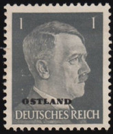 """RUSSIA German Occupation - Scott #N9 Numeral """"Overprinted"""" (*) / Mint NG Stamp - 1941-43 Occupation: Germany"""