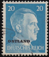 """RUSSIA German Occupation - Scott #N21 Numeral """"Overprinted"""" / Used Stamp - 1941-43 Occupation: Germany"""