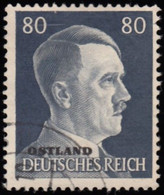 """RUSSIA German Occupation - Scott #N28 Numeral """"Overprinted"""" / Used Stamp - 1941-43 Occupation: Germany"""