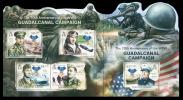 SOLOMON Isl. 2012 - Guadalcanal Campaign, WW2. Combined Sheet - Mi 1526-30; CV = 21 € - Boten