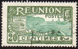 Réunion Obl. N°  62 - Réunion - Carte De L'ile - 20 Cts Olive Et Vert - Réunion (1852-1975)