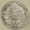 50 Centimes - Napoléon III - France - 1854 A - Argent - TB - France