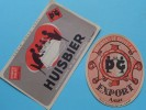"""Brouwerij De GHEEST N.V. AALST """" EXPORT """" - HUISBIER Afgetrokken In De Brouwerij Ledig Goed 1941( Zie Foto´s ) !! - Etiketten"""