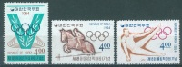 SOUTH KOREA  - 1964 - MNH/**  - OLYMPIC GAMES TOKYO -  Mi 457 459 460 Yv 355 356 358 - Lot 13221 - Corée Du Sud