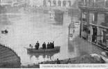 CPA PARIS - INONDATIONS DE PARIS JANVIER 1910 - GARE SAINT LAZARE - COUR DE ROME - Paris Flood, 1910