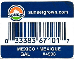 Fruits & Vegetables - Orange Sunset, Produce Of Mexico (FL4593) - Fruits & Vegetables
