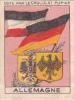 ALLEMAGNE GERMANY Drapeau Et Armoiries + Texte Au Dos Chromo Publicitaire Chocolat Pupier Années 35/40 - Cioccolato