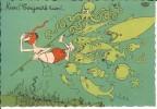 CPA  Illustration DUBOUT, Plongeur Et Pieuvre  12725 - Humor