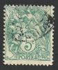 France, 5 C. 1900, Sc # 113, Mi # 90, Used. - 1900-29 Blanc
