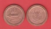 "ISLANDIA - 10 AURAR 1.981 KM#25 Colección ""MONEDAS DE EUROPA""  SC/UNC  Réplica  T-DL-11.502 - Islande"