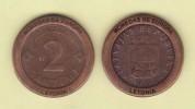 "LETONIA - 2 Santimi 2.000 KM#21 Colección ""MONEDAS DE EUROPA""  SC/UNC  Réplica  T-DL-11.504 - Letonia"