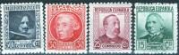 España 1936. Personajes Ilustres. 4 Valores. MNH. **. - 1931-50 Unused Stamps