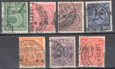 Germany 1920 Upper Silesia - Official Stamps - Mi. 1-7 - Used - Gestempelt - Allemagne