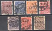 Germany 1920 Upper Silesia - Official Stamps - Mi. 10-14,16,20, - Used - Gestempelt - Settori Di Coordinazione