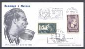 France Enveloppe Commémorative Aubenton 1970 YT N°337/338 Jean Mermoz - France