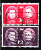 Ireland Used Scott #182-#183 Set Of 2 John O'Donovan, Eugene O'Curry - Death Centenaries - 1949-... Repubblica D'Irlanda