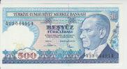 Turkey 500 Liras 1970(86) Pick 195 UNC - Turchia