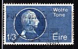 Ireland Used Scott #193 1sh3p Theobald Wolf Tone, Irish Revoluttionist - Birth Bicentenary - 1949-... Repubblica D'Irlanda