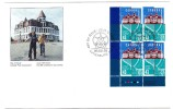 1995 Canada Lunenburg Academy 43c Plate Block First Day Cover - 1991-2000