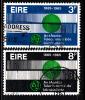 Ireland Used Scott #198-#199 Set Of 2 ITU Emblem, Globe, Waves - ITU Centenary - 1949-... Repubblica D'Irlanda