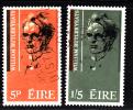 Ireland Used Scott #200-#201 Set Of 2 William Butler Yeats - 1949-... Repubblica D'Irlanda