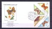 Tunisia/Tunisie 2001 - FDC -  Butterflies From Tunisia - Tunisia