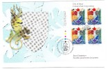 1996 Canada Heraldry 45c Plate Block First Day Cover - 1991-2000