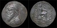 Parthian Kingdom Mithradates II AR Tetradrachm - Greek