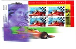 1997 Canada Gilles Villeneuve 45c Plate Block First Day Cover - 1991-2000