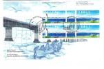 1997 Canada Confederation Bridge 45c Plate Block First Day Cover - 1991-2000