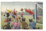 13744 - Chats Habillés Match De Foot - Animaux Habillés