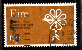 Ireland Used Scott #277 6p Stylized Bird, Tree, Shamrock - Nature Conservation Year - 1949-... Republik Irland