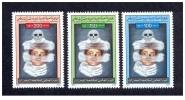 1996- Libya- Fight Against Smoking – Complete Set  3v MNH** - Libië