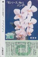 Carte Prépayée Japon - FLEUR ORCHIDEE- ORCHID Flower Japan Prepaid Card - BLUME JR IO Karte - ORQUIDEA - 1863 - Fleurs