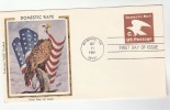 1981 COLORANO  SILK Memphis  USA C Rate  POSTAL STATIONERY COVER Fdc Stamps EAGLE BIRD - Arends & Roofvogels