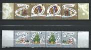 Ukraine 2004 Mi - 680/682 And 683/685.Merry Christmas.2 Strip Serial.MNH - Ukraine