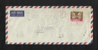 Zambia 1977 Air Mail Postal Used Cover Zambia To Pakistan Butterfly Animal - Zambia (1965-...)