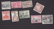 Colombia, Scott #C325, C328, C331-C332, C338, C342-C345, Used, Various Issues Overprinted, Issued 1959 - Colombie