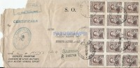 26922 ARGENTINA COVER BS AS EJERCITO ARGENTINO REGISTERED YEAR 1952 CIRCULATED TO MENDOZA NO POSTCARD - Afiches